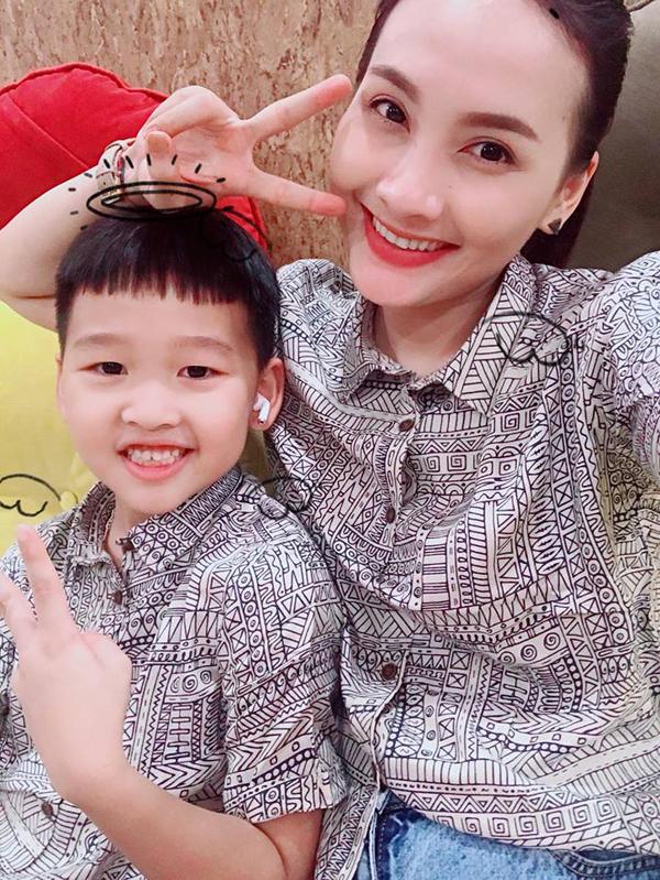 Con trai Bảo Thanh năm nay 6 tuổi, tên ở nhà là Bin.