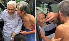 Cuộc hội ngộ của hai người bạn già gần trăm tuổi