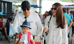 Vợ chồng Ngọc Lan đưa con trai sang Hàn Quốc ghi hình gameshow