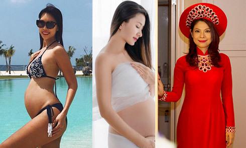 Các sao Việt sẽ sinh con vào mùa hè 2018