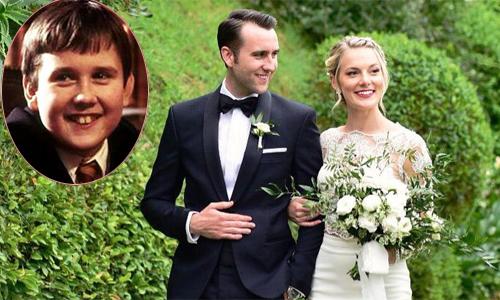 Phù thủy ngố Neville của 'Harry Potter' cưới vợ