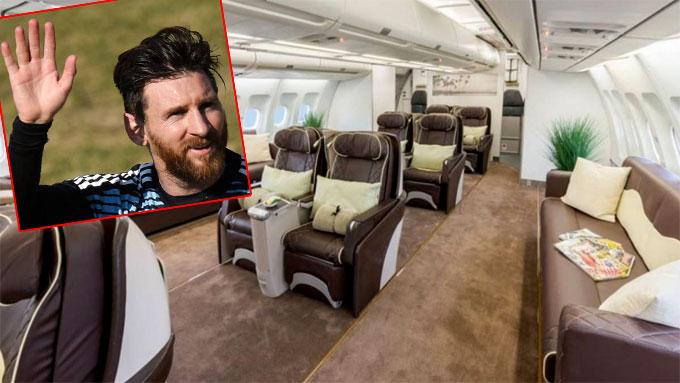 Messi và đồng đội được lo chu đáo việc di chuyển. Ảnh: NS.