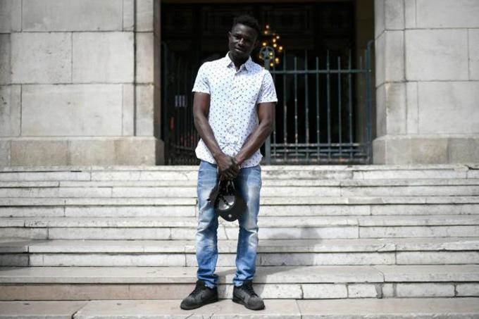 Người nhện Mamoudou Gassama. Ảnh: AFP.