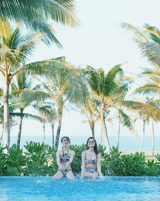 Chuyến nghỉ dưỡng của nữ MC luôn có sự đồng hành của cô bạn thân - MC Thùy Dung.