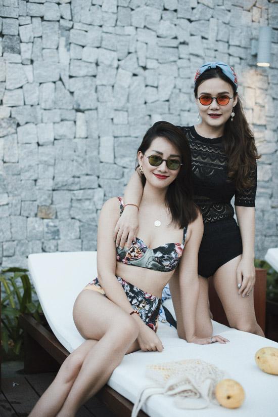 Lần này, chị gái của MC Thùy Dung cũng có mặt trong chuyến đi cùng hai người em.