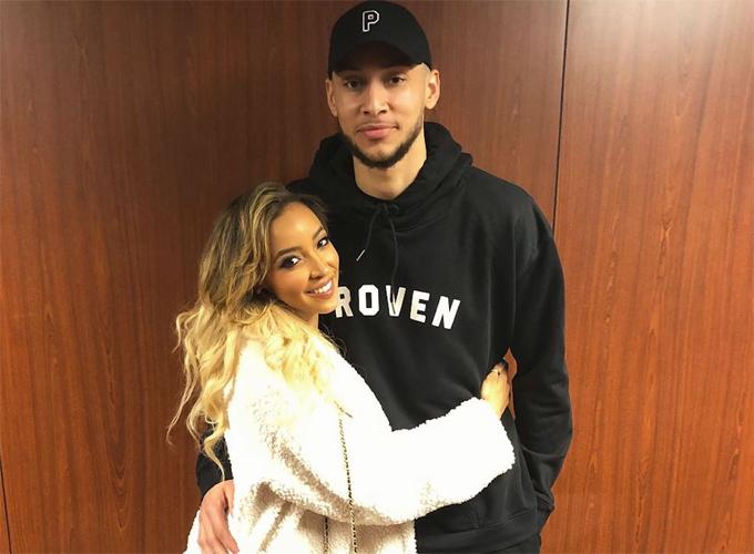 Ben Simmons và bạn gái cũ, Tinashe.