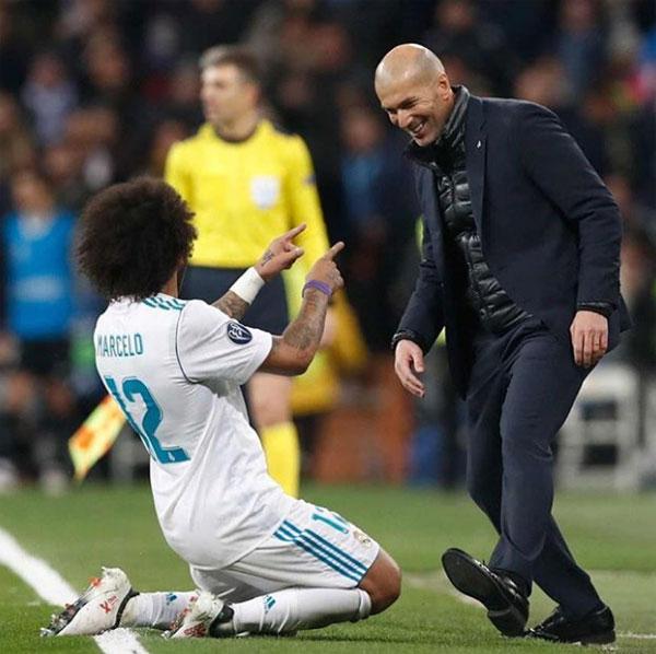 Marcelo gửi lời tri ân tới HLV Zidane. Ảnh: NS.