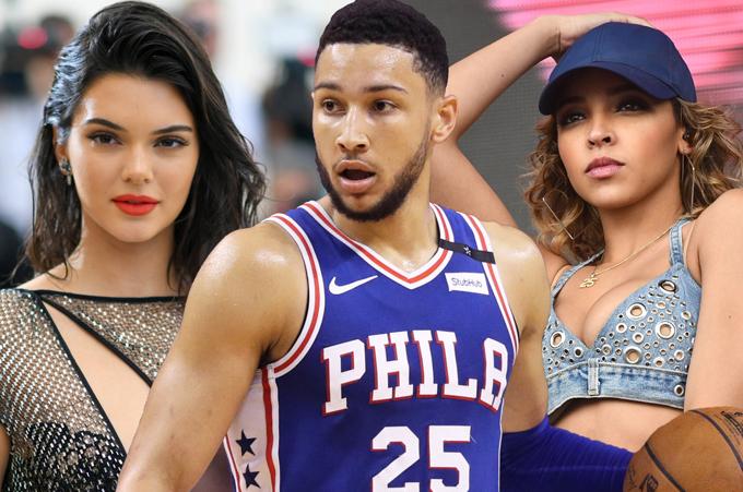 Kendall bị cho là người chen vào mối tình của cầu thủ Ben Simmons và ca sĩ Tinashe.
