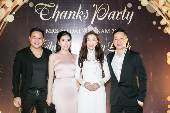 Vợ chồng diễn viên Minh Tiệp - Thuỳ Dương cũng có mối quan hệ thân thiết với vợ chồng Thuỳ Linh.