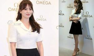 Song Hye Kyo 'ăn gian' chiều cao với đôi giày lênh khênh