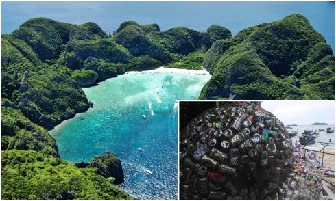 Vịnh Maya ở đảo Phi Phi, Thái Lan đóng cửa vì ô nhiễm môi trường