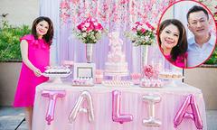 Vợ chồng Thanh Thảo mở tiệc mừng con gái sắp chào đời