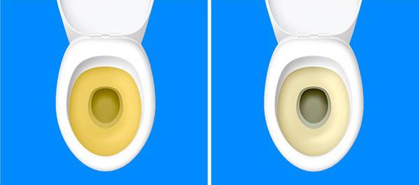 Nước tiểu có màu vàng đậm Dư thừa natri dẫn đến nhiều vấn đề về bài tiết. Bạn muốn đi tiểu nhiều hơn do thận phải làm việc liên tục để đào thải muối ra khỏi cơ thể vànước tiểu có màu vàng đậm.