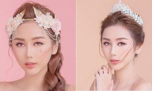 Phong cách trang điểm bling bling cho cô dâu 'bánh bèo'