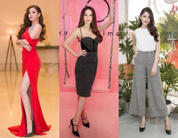 Màu đen cũng là một sự lựa chọn cần phải có của nhiều người đẹp Việt, bởi tính hữu dụng khi diện cùngtrang phục dạo phố, váy cocktail hay cả dạ hội thướt tha.