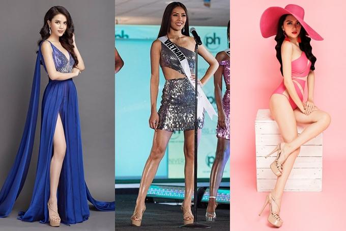 Mẫu giàyChinese Laundry cũng là sản phẩm trong danh sách cần có của sao Việt. Sản phẩm này nổi tiếng qua cuộc thi Hoa hậu Hoàn vũ thế giới bởi thiết kế có quai chắc chắn, chiều cao nổi bật và gam màu nude phù hợp nhiều trang phục.