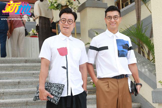 Khách mời dự đám cưới là những gương mặt quen thuộc của showbiz Hong Kong như Trần Chí Kiện, Trần Triển Bằng.