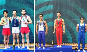 Hai hot boy thể dục Việt Nam giành HC vàng Cup thế giới