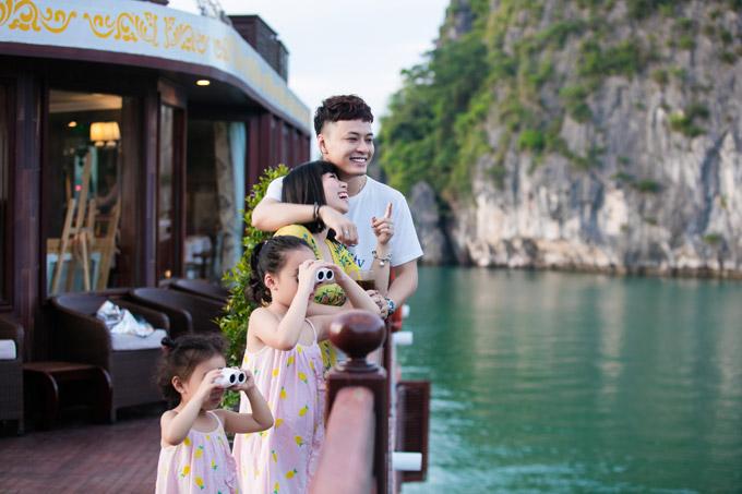 Mạnh Trường, Hồng Đăng cùng vợ con nghỉ dưỡng trên du thuyền 5 sao - 8