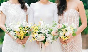 4 cách phổ biến kết hợp hoa cầm tay của cô dâu và phù dâu