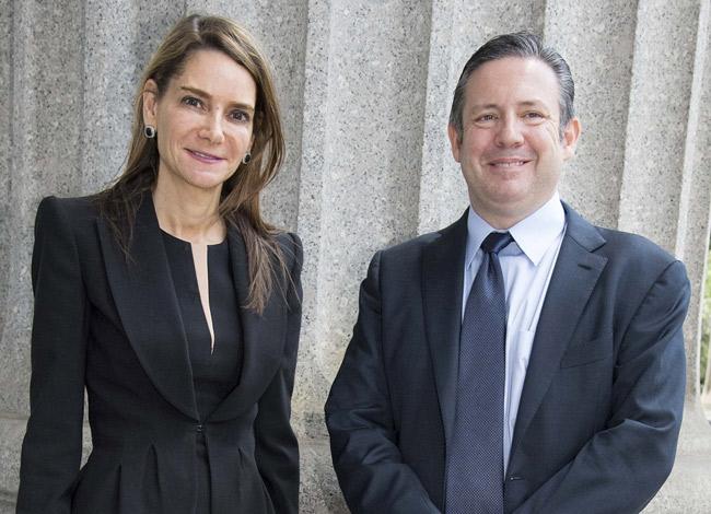 Hai nhà đồng sáng lập Transperfect, Liz Elting và Phil Shawe. Ảnh: New York Post.