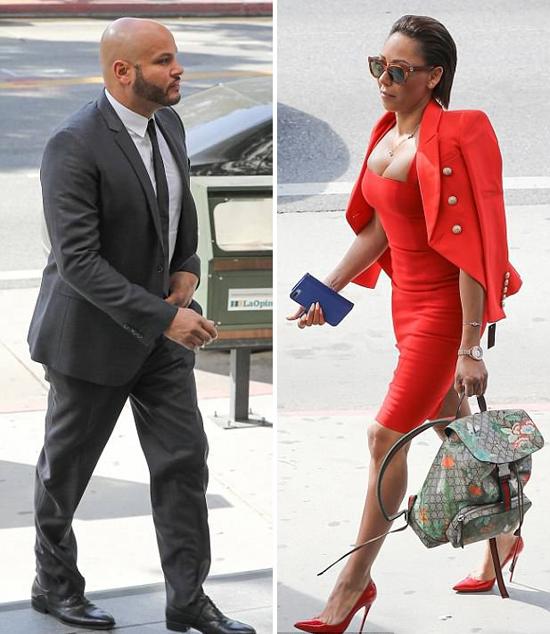 Stephen và Mel B đối mặt với nhau tại tòa ngày 4/6.