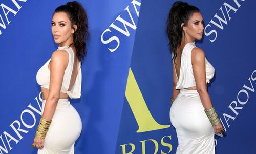 Kim Kardashian khoe vòng ba trứ danh trên thảm đỏ