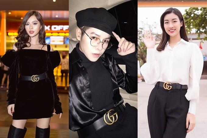 Phụ kiện thời trang này phù hợp với các bộ cánh đơn giản và trở thành điểm nhấn cho ngoại hình. Vì thế, nhiều sao Việt khác như: Mỹ Linh, Đức Phúc, Tú Hảo, Decao... cũng sử dụng.