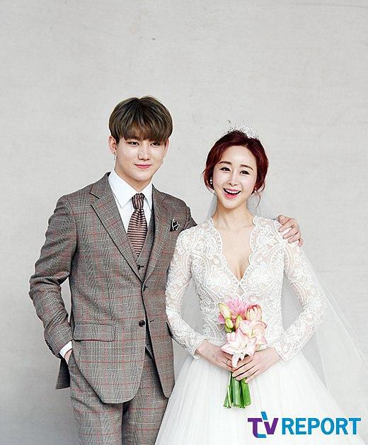Ham So Won và Jin Hua trong bộ ảnh cưới thực hiện hồi tháng 5.