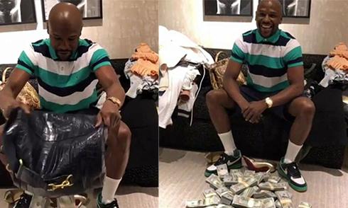 Mayweather trút tiền ra sàn nhà khoe 'độ chơi' khi đi mua sắm quần áo