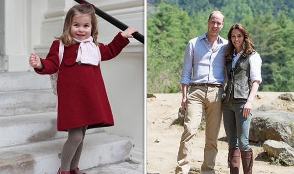 Hai tấm thiệp cảm ơn của nhà Kate in ảnh con gái và cặp vợ chồng. Ảnh: Kensington Palace.
