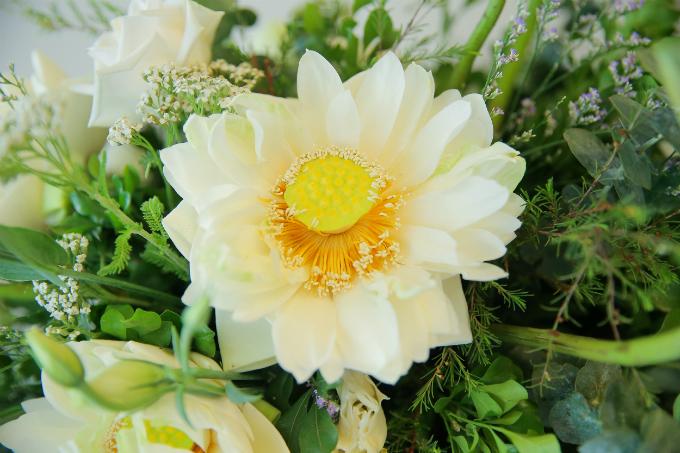 Kỹ thuật gấp cánh hoa sen khá phổ biến ở Thái Lan và còn được nhiều người đùa vui là uốn tóc cho hoa. Sen gấp cánh mang đến hiệu ứng độc đáo và hiện đại cho lễ ăn hỏi.