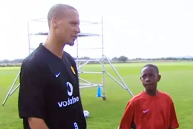 Rio Ferdinand and Danny Welbeck When Danny was a promising youth player at Man United, the starlet hoped he could emulate hero Rio and play in the first team.  The former England centre half was always there on the training ground giving youngsters advice, Danny once revealed.  And this image was taken in 2003 when the Arsenal forward was just 12-years-old.