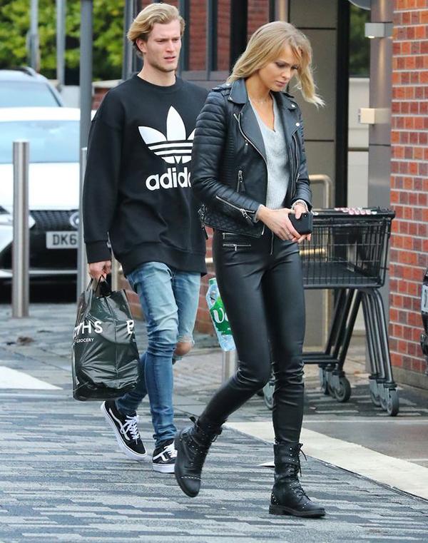 Loris Karius vàIanthe cùng nhauđi mua sắm cách đây ít tuần. Ảnh: DS.