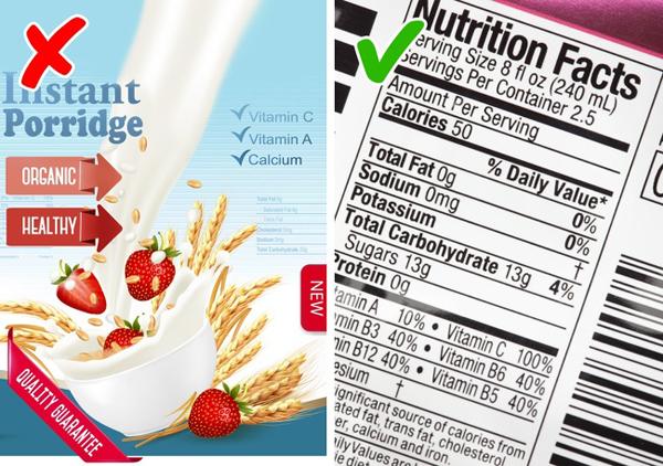 Không đọc kỹ thành phần dinh dưỡng của thực phẩm Đừng chỉ nhìn vào các tiêu chí như organic, không chứa đường hay đã được chứng nhận dinh dưỡng khi mua thực phẩm. Bạn cần cân nhắc kỹ tới các chỉ số calories, chất béo, đường, protein trong từng loại thực phẩm mới đảm bảo việc ăn kiêng đạt hiệu quả như ý muốn.