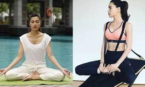 Loạt sao Việt chăm tập yoga giữ dáng