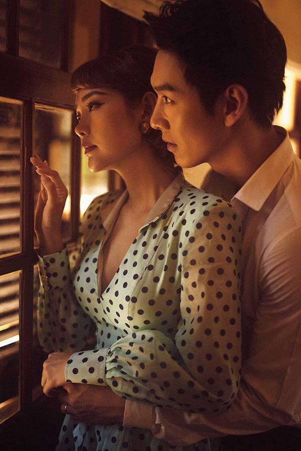 Minh Hằng và bạn diễn Song Luân.