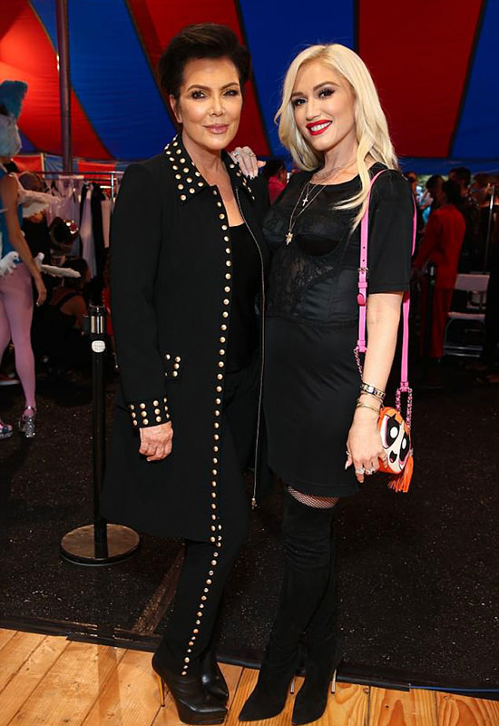 Kris bên nữ ca sĩ Gwen Stefani.