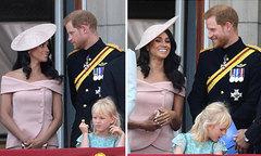 Harry - Meghan nhìn nhau đắm đuối trên ban công Điện Buckingham
