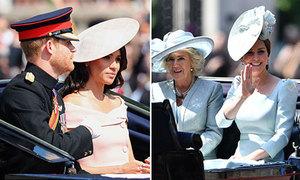 Meghan xinh như công chúa, Kate ngồi xe ngựa cùng mẹ kế trong sinh nhật Nữ hoàng
