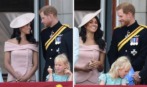Harry - Meghan tình tứ trong lần đầu đứng cùng trên ban công Điện Buckingham