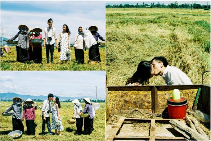 Cả hai chụp hình trên cánh đồng mùa gặt của đồng bào Ra-Glai ở Ninh Thuận. Kỷ niệm đáng nhớ nhất là khi mọi người đang gặt thấy chúng tôi chụp hình thì họ vui lắm rồi đến góp vui và chụp hình chung, Huân bật cười nhớ lại câu chuyện cũ.