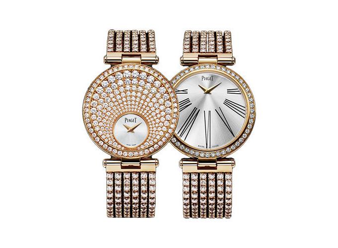 Mẫu đồng hồ hai mặt số là điểm phá cách, sáng tạo của Piaget. Limelight Twice đã dành giải Geneva Watchmaking Grand Prix năm 2009. Mặt số trước được trang trí bởi kim cương xếp lớp theo tia mặt trời. Mặt số sau đặc trưng bởi mốc chỉ giờ kiểu La Mã màu đen thanh lịch, đối lập với bề mặt màu bạc được viền quanh bởi kim cương.