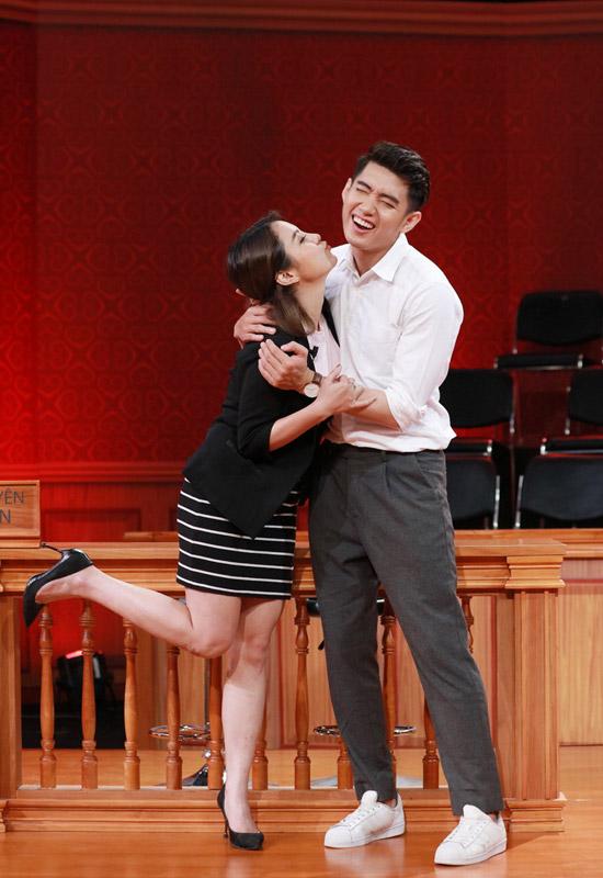 Thái Trinh và Quang Đăng trong Phiên tòa tình yêu.