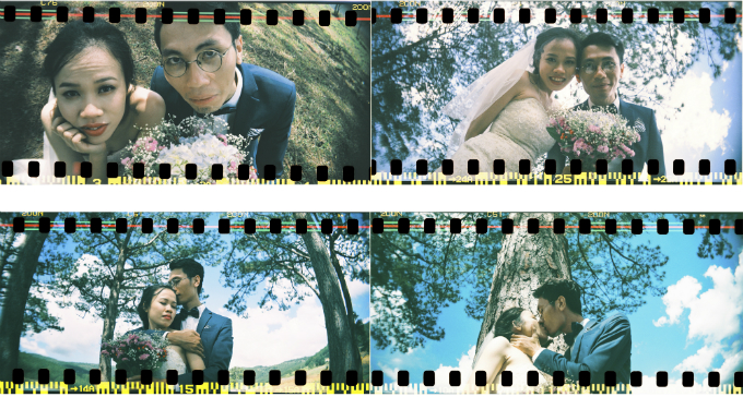 Lần chụp cuối tại Đà Lạt,cả hai mặc đồ cưới và thể hiện niềm háo hức khi sắp về chung một nhà.