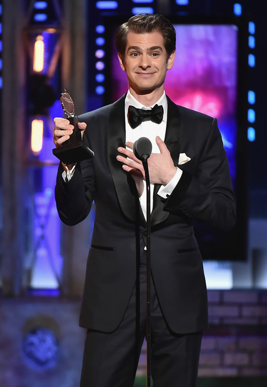 Andrew Garfield tại lễ trao giải Tony.