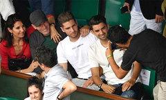 Zidane cùng vợ và hai con trai chứng kiến Nadal đăng quang