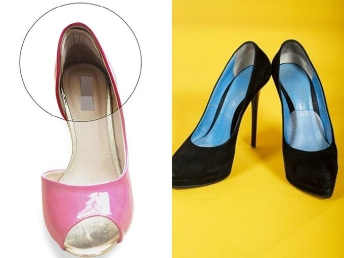 Bí kíp của Lan Ngọc vốn được nhiều chị em phụ nữ lựa chọn. Ngay từ khi đi mua giày, bạn có thể nhờ nhân viên dán thêm miếng đệm vào gót, hạn chế va chạm tổn thương cho đôi chân.