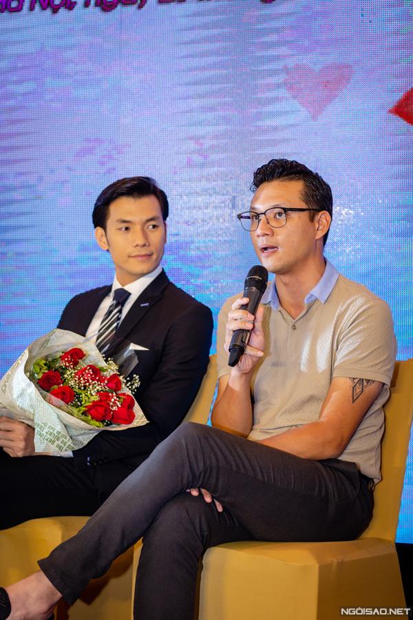 Đạo diễn Khải Anh tại buổi họp báo ra mắt phim Ngày ấy mình đã yêu.