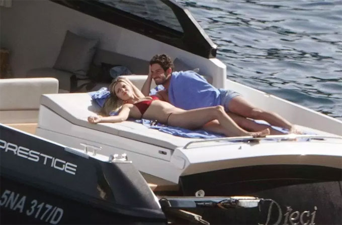 Danielle Knudson was keen to soak up the rays at the Amalfi Coast, but Alexandre Pato wanted to cover up